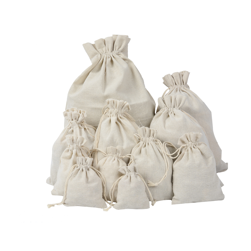 Drawstring Bag Shopping Bag Cotton Bag Cotton Linen Storage Package Bags Small Coin Purse Travel Women Cloth Bag Gift Pouch