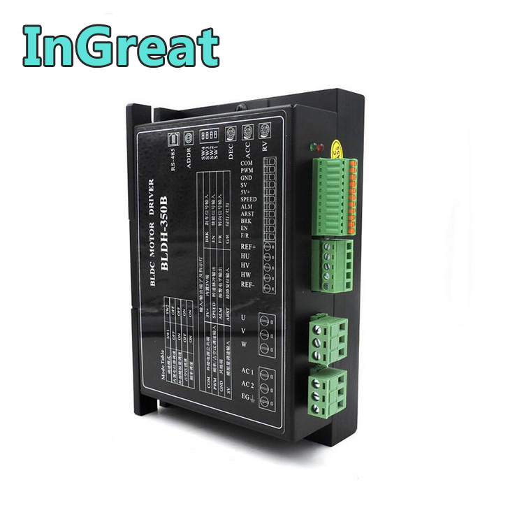 Hall Drive Controller 300W 350W 4A 220V AC Brushless Motor Driver BLDC Driver Adjustable High Speed 20000RPM PWM with RS485