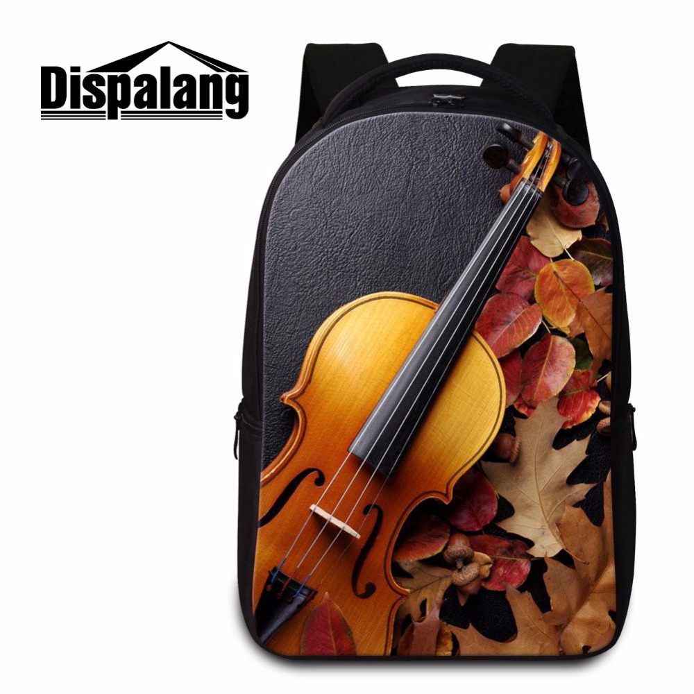 Dispalang Design Violin Ballet Student Laptop Backpack Large Capacity Women School Backpacks Children Schoolbags For Teenagers men backpack student school bag for teenager boys large capacity trip backpacks laptop backpack for 15 inches mochila masculina