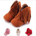 2016 New Warm Winter Baby Shoes First Walkers Infants Fringe Snow Boots Soft Sole Toddlers Shoes