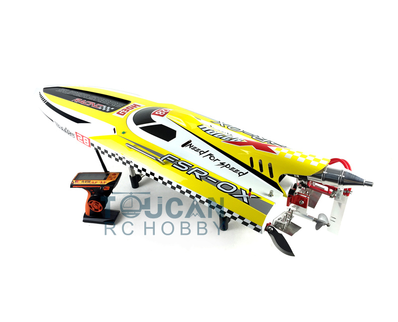 G30H ARTR-RC 54 30CC Engine Gasoline Fiber Glass RC Racing Boat Radio System Servos Yellow free shipping beryllium copper 3 blades boat paddle propellers fit for rc 26cc 30cc gasoline boat racing boat diameter 67mm 70mm