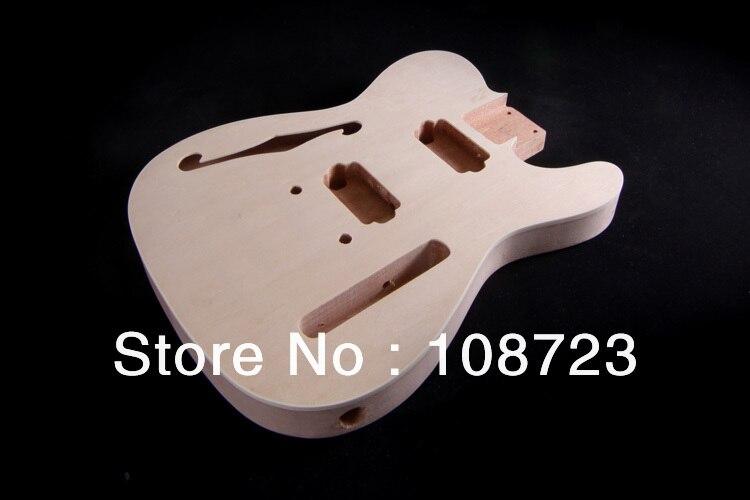 Bricolage Kit guitare électrique corps Semi creux F trou boulon sur acajou cou Thinline Deluxe - 2