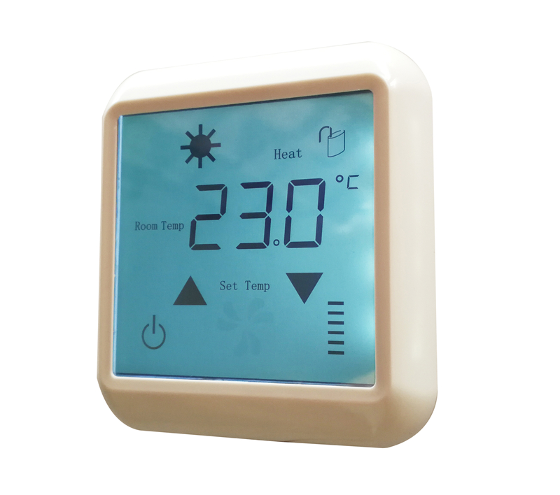AC110V 20A Touch screen under floor heating thermostats, room temperature control thermostat for floor heating film ac 250v 20a normal close 60c temperature control switch bimetal thermostat