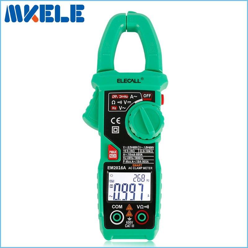 EM2018A 6000 Count Smart Measurement Digital Clamp Meter Measure Peak Current Clamp Head Frequency Measure цена
