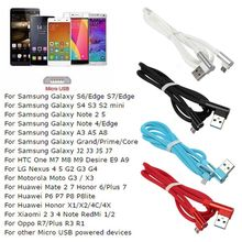 Charging Cable Data Cord Line Wire 90 Degree Micro USB for Samsung Huawei Xiaomi Sony