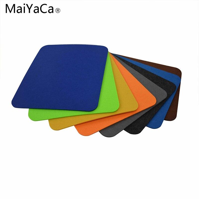 Maiyaca модные Войлок Мышь Pad Tapete офис пыль-доказательство регистрации Мышь Pad Коврики для ноутбука Тетрадь компьютер