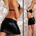 1 PCS New Sexy Mulheres Faux Leather Erótico Saia PU Mini Saia envolto Hipe Side Dividir Sexy Shorts De Couro Saias Culb Desgaste da Dança 7