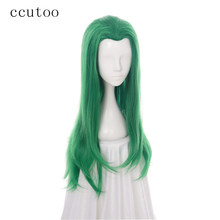 ccutoo Green Curly Female Joker Mermaid Girl Synthetic Hair Cosplay Full Wig Heat Resistance Fiber(China)
