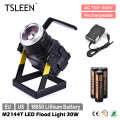TSLEEN +Hot Selling+ 18650 Portable 30W LED Flood Light Stadium Camping Car Repairing Zoom Lamp Free Shipping