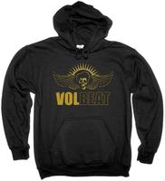VOLBEAT LOGO HEAVY METAL STONE SOUR TRIVIUM HOODIE NEW BLACK SWEATSHIRT