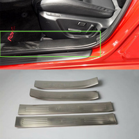 Stainless steel AUTO exterior accessories door scuff plate For 2017 MAZDA 6