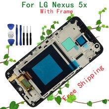 5.2 дюймов Черный Для LG Google Nexus 5X H790 H791 ЖК-Дисплей + Сенсорный Экран С Рамкой(China (Mainland))