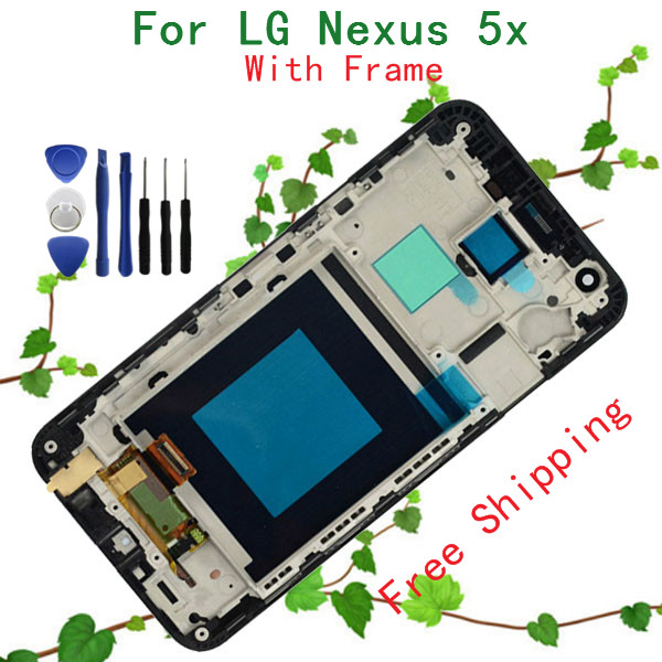 Original 5.2 inch Black For LG Google Nexus 5X H790 H791 LCD Display+Touch Screen With Frame