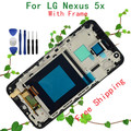 Original 5.2 pulgadas negro para lg google nexus 5x h790 h791 pantalla lcd + pantalla táctil con el marco