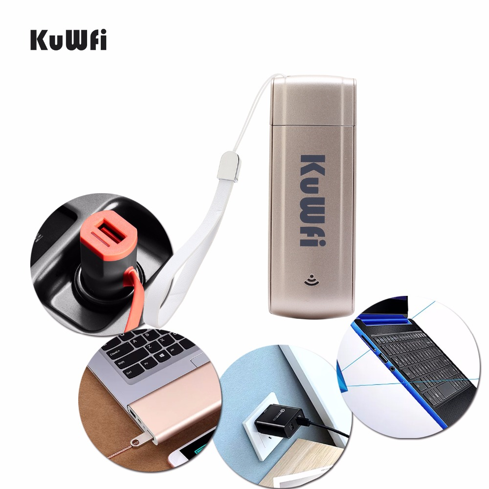 <font><b>KuWFi</b></font> USB LTE <font><b>WiFi</b></font> 3G <font><b>WiFi</b></font> Router SIM Slot