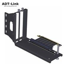 ADT Link Grafiken Karten Vertikale Halterung PCIe 3,0 x16 graphics grafikkarte zu PCIe 3,0 x16 slot verlängerung kabel für ATX PC Fall