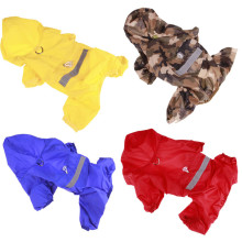 Double-layer mesh pet raincoat Dog Easy to travel in the rainy season 4 colors 9 specifications