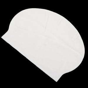 Унисекс, белые латексные гибкие плавательные шапочки для бассейна для женщин и мужчин, силиконовые купальные шапочки, одежда для купания, к...