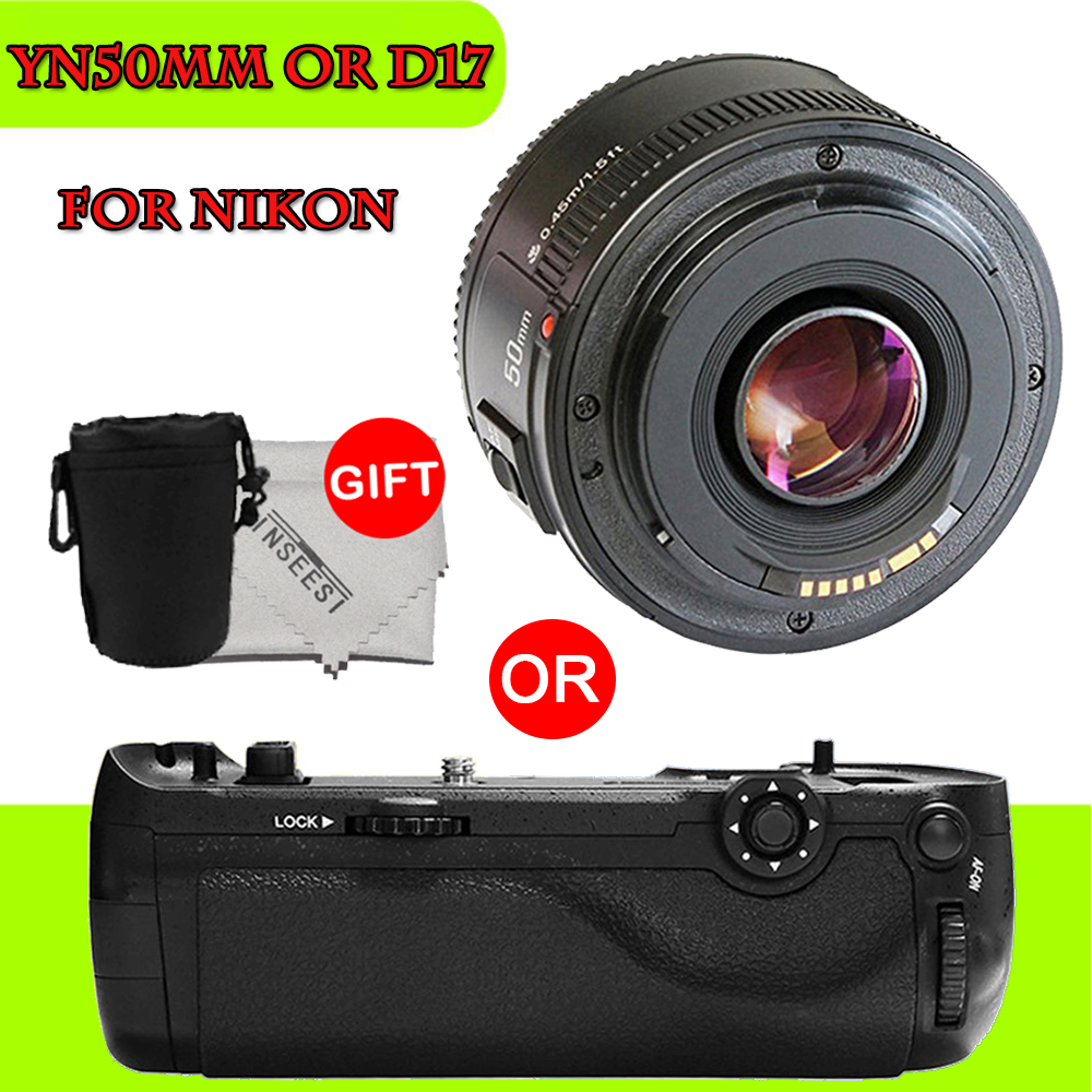 Yongnuo YN50MM MF/1.8 Large AF Lens yn50mm Aperture Auto Focus YN 50mm for Nikon Camera OR pixel d17 battery grip for nikon d500 yongnuo 35mm camera lens f 2 af aperture auto focus large aperture for nikon d5200 d3300 d5300 d90 d3100 d5100 s3300 d5000
