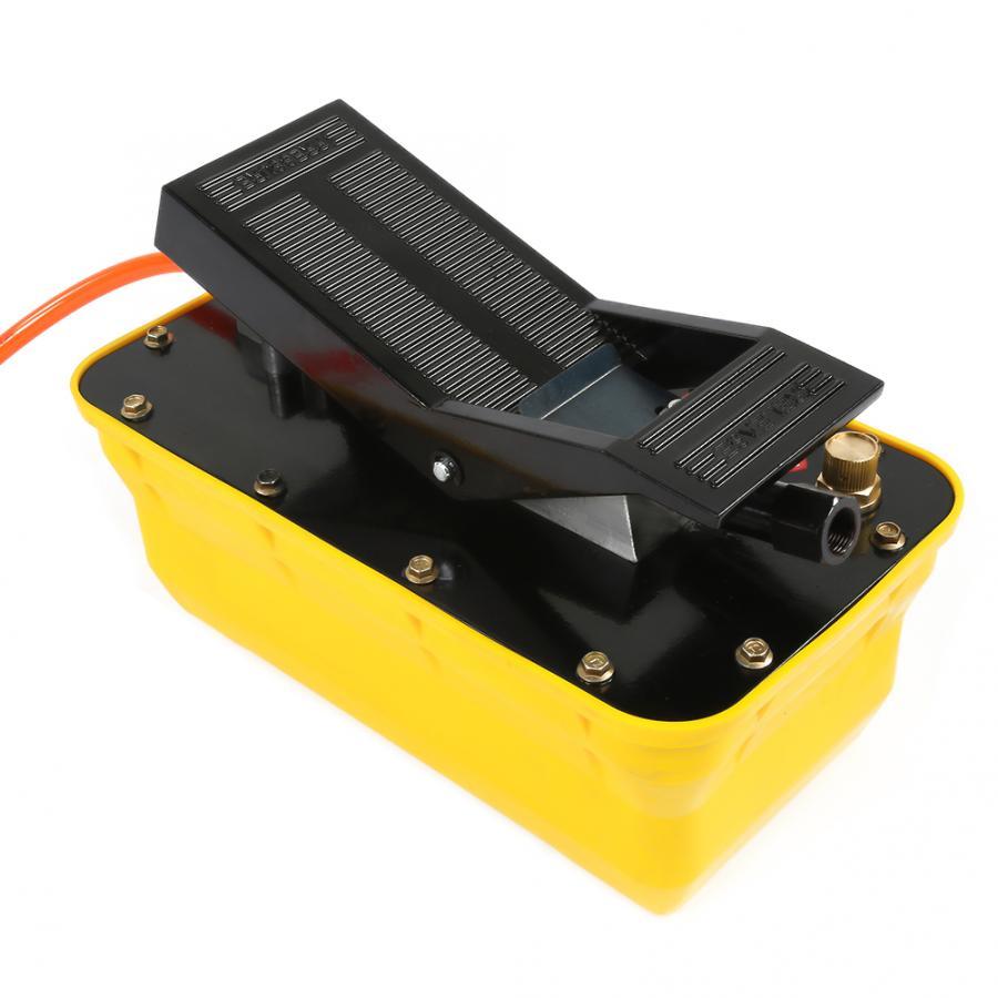 Pompe à pied hydraulique 2.3L Air 3/8 NPT à simple effet pneumatique avec coupleur de tuyau pompe hydraulique pneumatique - 4