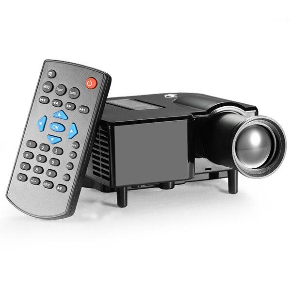 Мини портативный проектор из светодиодов 80lms 80 дюймов динамическое изображение 300 : 1 USB av-vga микро-hdmi HD видео Projektor лучемет домашний кинотеатр
