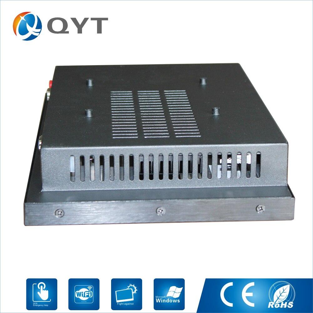 "Custom 12 ""all in one pc CPU i3-6100 resolutie 1280*800 Resistive touch wifi Bluetooth hdmi 4g RAM 32g SSD Zwart"