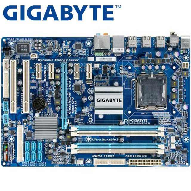 GIGABYTE GA-EP43T-S3L Desktop Motherboard P43 Soquete LGA 775 Para Core Pentium D DDR3 2 EP43T-S3L 16g ATX Usado Original mainboard