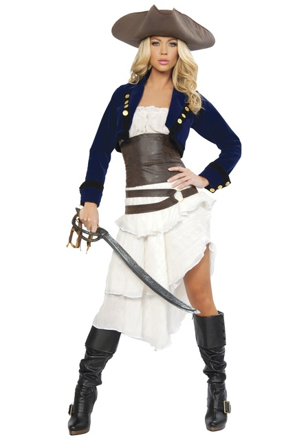 cool tiered jacket included pirate womens gypsy fantasia fancy party dress halloween costumes