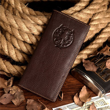 Free Shipping High Quality Top Grade Men 100% Real Leather Wallet Credit Card Holder Hand Purse # 8017-1C