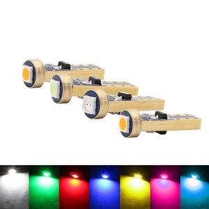 Image 4 - Luces LED de señalización para salpicadero de coche, 10 Uds., T5 58 74 286 W1.2W 3030