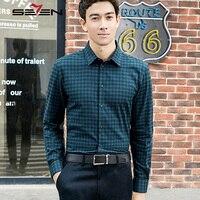 Seven7 Plaid Maglie A Manica Lunga Casual Uomo 100% Cotone Camicetta Camicia Menswear Affari Moda Lusso Importati-abbigliamento 113A30050