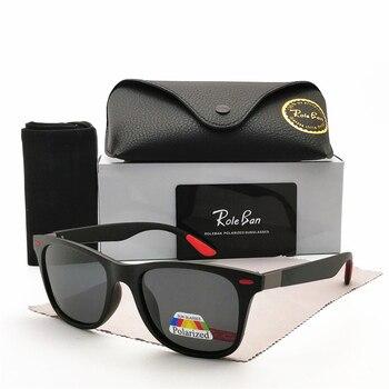 2020 Classic Polarized Sunglasses Men Women Brand Design Driving Square Frame Sun Glasses Male sunglass UV400 Gafas De Sol aofly brand design classic polarized sunglasses men driving tr90 frame sunglasses goggles uv400 gafas oculos de sol af8091