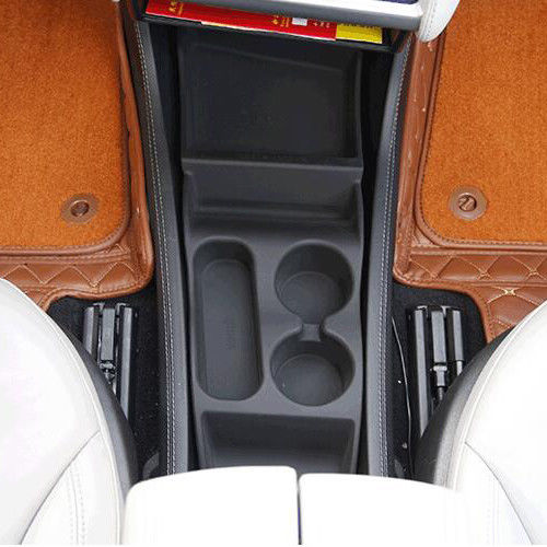 JY Silicone Storage Box Console Container Center Insert Box Cup Glasses Holder For Tesla Model S 2012-17