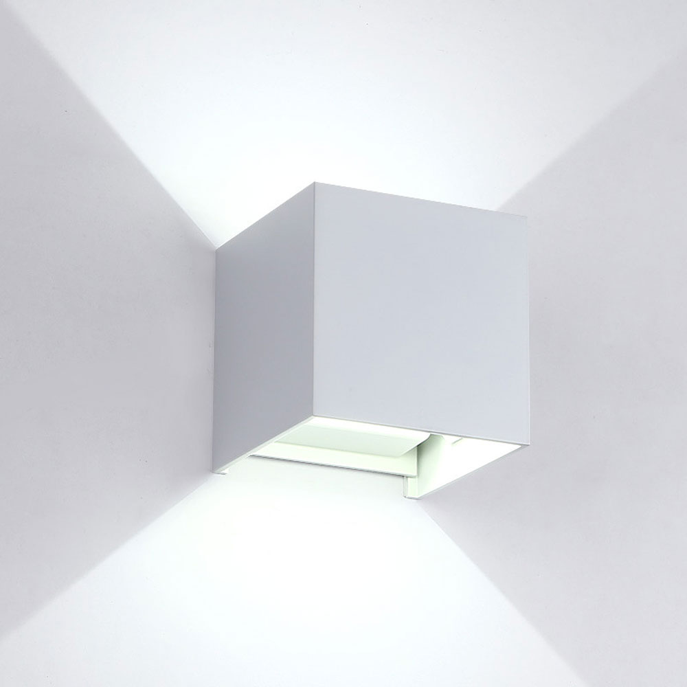 Ip65 Cube Adjustable Surface Mounted Outdoor Led Lighting 110v 220v Ac Led Outdoor Wall Light Up Down Led Wall Lamp