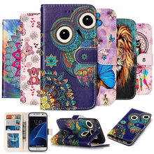 Leather Case For Samsung Galaxy S6 S7 edge A10 A20 A20E A30 A40 A50 A60 A70 Phone Cover sFor Samsung S8 S9 plus A3 A5 J3 J5 2017(China)