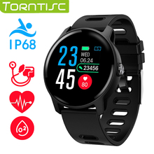 Torntisc S08 smart watch IP68 wodoodporna pulsometr centrum Tracker Sport inteligentny zegarek mężczyźni kobiety dla Android IOS telefon