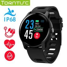 Torntisc s08 스마트 시계 ip68 방수 심박수 모니터 피트니스 트래커 스포츠 smartwatch 남성 여성 안드로이드 ios 전화 번호