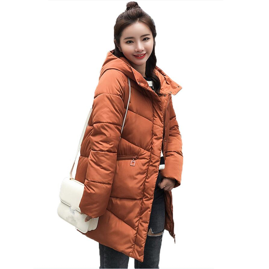 Women Winter Jacket 2018 Fashion Thicken Cotton Padded Long Coat Women Korean Hood   Parkas   Female Outerwear Casaco Feminino