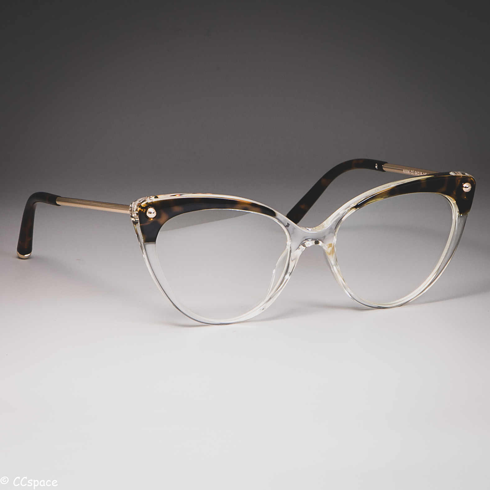 TR90 Cat Eye Glasses Frames Women Trending Rivet Styles Optical Fashion Computer Glasses 45651