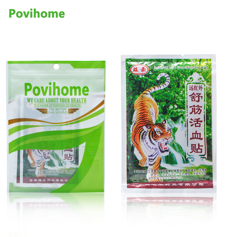 16Pcs Chinese Herbal Medicine Joint Pain Tiger Balm Arthritis Rheumatism Myalgia Treatment Massage Plasters C201 herbal muscle