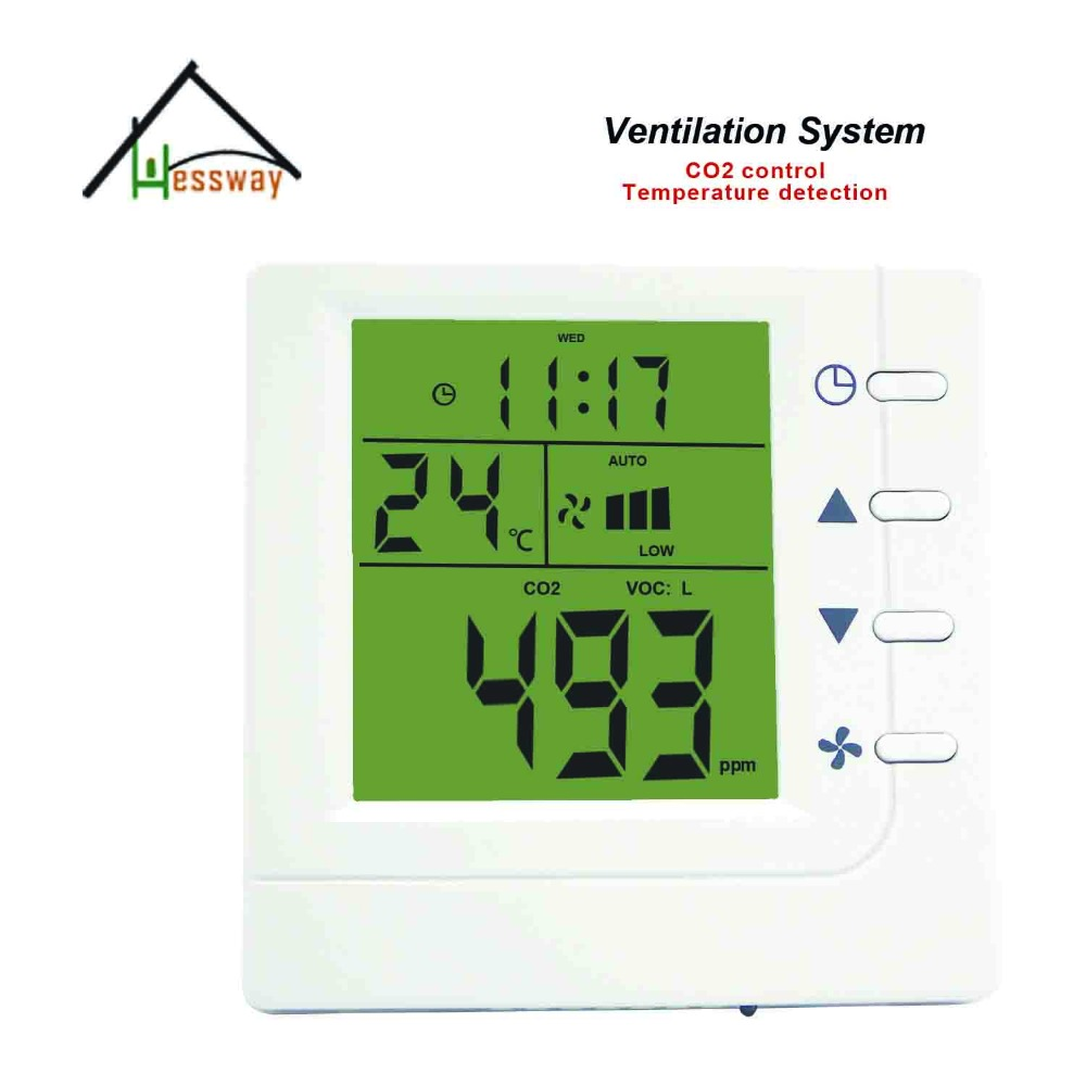RS485 adjustment range 350-1500ppm Equivalent co2 gas monitor controller Indoor air quality monitor for office, conference room