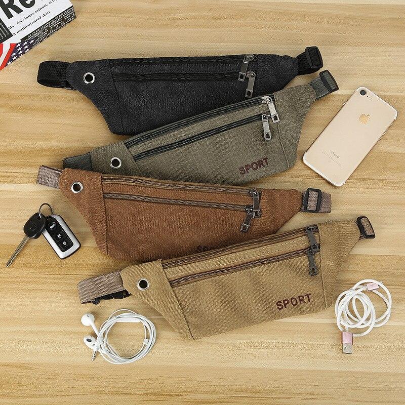 BISI GORO Phone Pack Zipper Pouch Banana Packs Unisex Waistbag Sports Running Purse Hip Bum Waist Bag Belt For Women Men Fanny