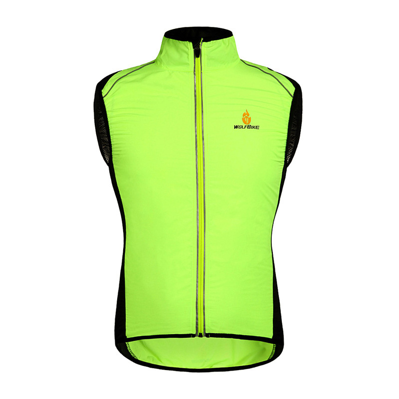 Motorcycle Jacket Vest Breathable High Visible Reflective Jacket Sleeveless Vest