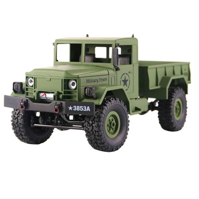 RC Truck Remote Control Vehicle Military Transporter Off-Road Monster 6WD Tactical 2.4G Rock Crawler Electronic Toys Kids GiftRemote Control Toys