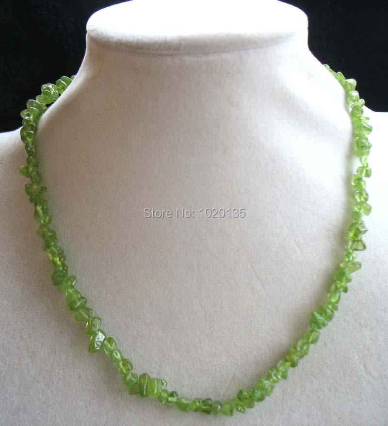 wow! green peridot baroque 5-8mm necklace 17inch nature beads FPPJ freeshape baroque gemstone for woman gift