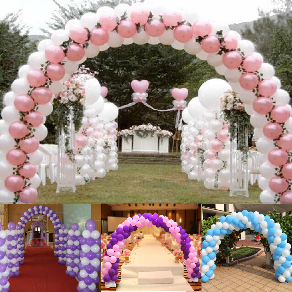 Popular birthday balloon arch buy cheap birthday balloon for Balloon arch frame kit party balloons decoration