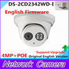 DS 2CD2342WD I English Version 4MP CCTV Camera EXIR CCTV Camera 120dB WDR P2p Ip Camera