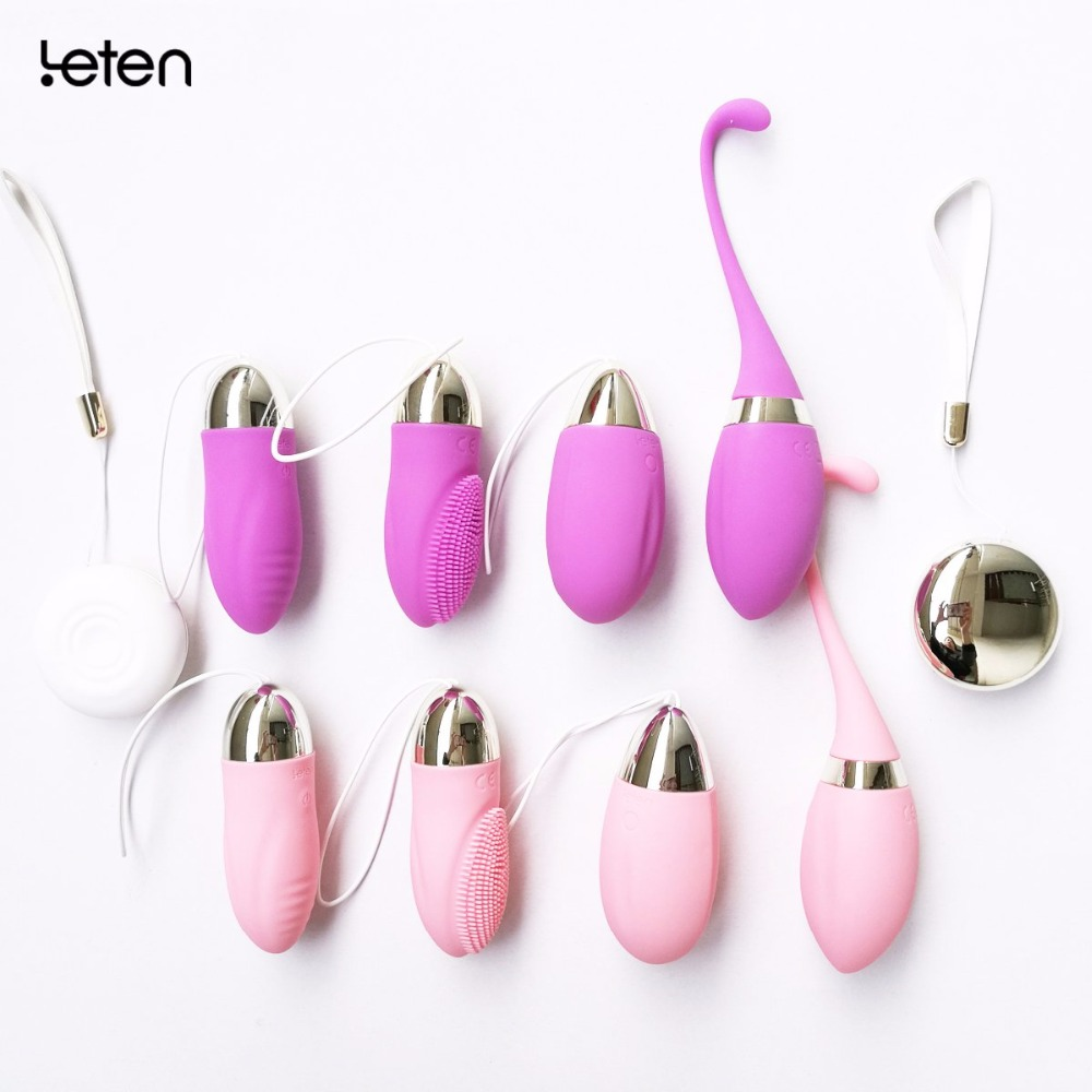 Leten Silicone Wireless Remote Control vibrator, Waterproof USB Charged massager sex Toys For Woman charged