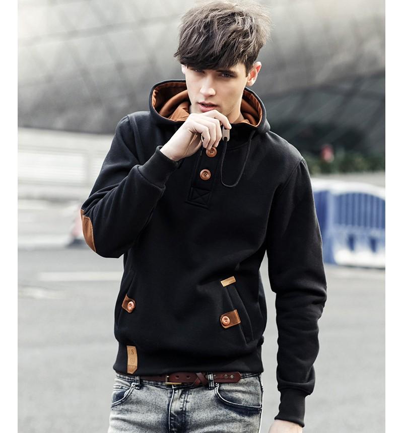 JeeToo Men Hoodies 17 Casual Hoodies Men Fleece Fashion Hip Hop Warm Hoody Polo Mens Hoody Jacket Sweatshirt Mens Sweat Homme 4