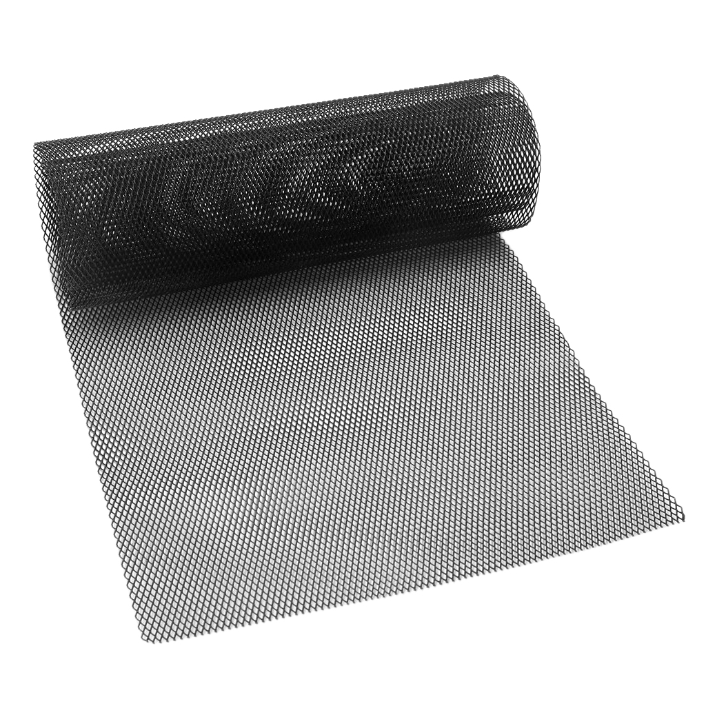 Image 5 - 1x Universal Car Vehicle Silver Tone Aluminum Alloy Rhombic Grille Mesh Sheet Black for Bumper Hood Vent Vehicle 100x33cm-in Front & Radiator Grills from Automobiles & Motorcycles